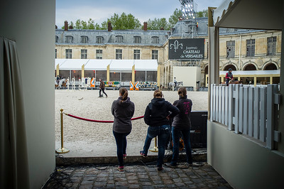 France, Versailles : ambiance during the Versailles Castle Show Jumping at the stables of the kings, on May 4th , 2017, in Versailles, France - Photo Christophe Bricot