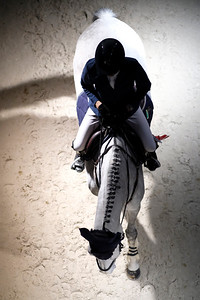 France, Bordeaux : Illustration, horse and rider during the International Show Jumping of Bordeaux, on February 1, 2018, in Bordeaux, France - Photo Christophe Bricot