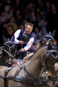 France, Bordeaux : Boyd EXELL in action in action during the FEI World Cup Driving Finale - International  Jumping of Bordeaux, on February 4, 2018, in Bordeaux, France - Photo Christophe Bricot