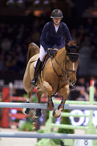 France, Bordeaux : Marie Valdar LONGEM (NOR) riding ALGORHYTHEM riding during the Prix Foire Internationale de Bordeaux competition of the International Show Jumping of Bordeaux, on February 2, 2018, in Bordeaux, France - Photo Christophe Bricot