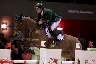 France, Bordeaux : Mark MCAULEY (IRL) riding VALENTINO TUILIERE during the Prix Hotel Burdigala, Bordeaux Métropole competition of the International Show Jumping of Bordeaux, on February 3, 2018, in Bordeaux, France - Photo Christophe Bricot