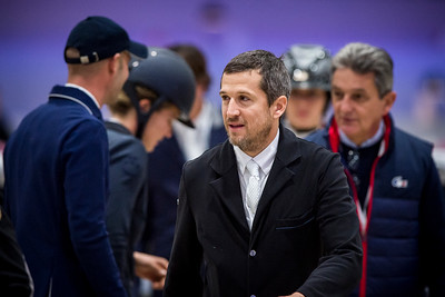 France, Villepinte : Guillaume Canet during the Longines Masters of Paris 2017, on December 1 , 2017, in Villepinte, France - Photo Christophe Bricot