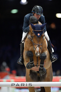 France, Villepinte : Daniel BLUMAN (ISR) riding Ladriano Z  during the Longines Masters of Paris 2017, on December 1 , 2017, in Villepinte, France - Photo Christophe Bricot