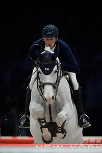 France, Villepinte : Daniel DEUSSER (GER) riding Cornet D'Amour during the Longines Masters of Paris 2017, on December 1 , 2017, in Villepinte, France - Photo Christophe Bricot