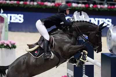 France, Villepinte : Reed KESSLER (USA) riding Christy 3 during the Longines Masters of Paris 2017, on December 1 , 2017, in Villepinte, France - Photo Christophe Bricot