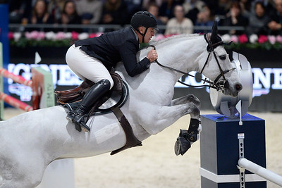 France, Villepinte : Roger Yves BOST (FRA) riding Pegase du Murier during the Longines Masters of Paris 2017, on December 1 , 2017, in Villepinte, France - Photo Christophe Bricot