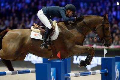 France, Villepinte : Alexandra PAILLOT (FRA) riding Polias de Blondel during the Longines Masters of Paris 2017, on December 2 , 2017, in Villepinte, France - Photo Christophe Bricot