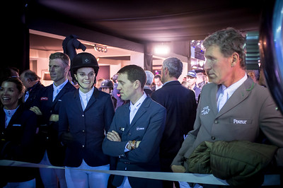 France, Villepinte : ambiance, Edwina Tops Alexander, Athina Onassis, Simon Delestre, Ludger Beerbaum during the Grand Prix of the Longines Masters Paris, on December 4th , 2016, in Villepinte, France - Photo Christophe Bricot