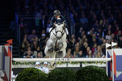 France, Villepinte :  Bertram Allen  riding Hector van d'Abdijhoeve  during the Grand Prix of the Longines Masters Paris, on December 4rd , 2016, in Villepinte, France - Photo Christophe Bricot