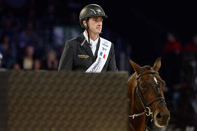 France, Villepinte : Gregory Wathelet win with Eldorado van het Vijverhof  during the Grand Prix of the Longines Masters Paris, on December 4rd , 2016, in Villepinte, France - Photo Christophe Bricot
