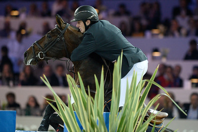 France, Villepinte :  Gregory Wathelet  riding Eldorado van het Vijverhof  during the Grand Prix of the Longines Masters Paris, on December 4rd , 2016, in Villepinte, France - Photo Christophe Bricot