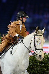 France, Villepinte : Eden Leprevost-Blinlebreton riding Simonetta du Haul  during the Pro-Am for Charity Presented by Hyatt, at the Longines Masters Paris, on December 4rd , 2016, in Villepinte, France - Photo Christophe Bricot