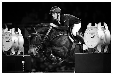 France, Villepinte : Bertram Allen riding Izzy By Picobello during the Longines Masters Paris, on December 3rd , 2016, in Villepinte, France - Photo Christophe Bricot