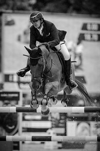 France, Paris : Mathieu Billot riding Radja des Fontaines during the Longines Global Champions Tour of Longines Paris Eiffel Jumping, on June 30th , 2017, in Paris, France - Photo Christophe Bricot