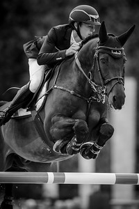 France, Paris : Jessica Springsteen riding Cynar v. during the Longines Global Champions Tour of Longines Paris Eiffel Jumping, on July 1th , 2017, in Paris, France - Photo Christophe Bricot