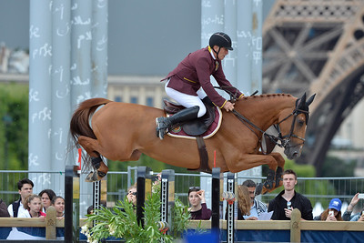 France, Paris : Roger Yves Bost riding Sydney une Prince during the Longines Global Champions Tour of Longines Paris Eiffel Jumping, on June 30th , 2017, in Paris, France - Photo Christophe Bricot