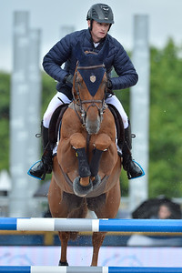 France, Paris : Denis Lynch riding RMF Echo during the Longines Global Champions Tour of Longines Paris Eiffel Jumping, on June 30th , 2017, in Paris, France - Photo Christophe Bricot
