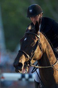France, Paris : Kevin Staut riding Calevo FRA during the Longines Longines Global Champions Tour of Paris, on July 6th , 2019, in Paris, France - Photo Christophe Bricot