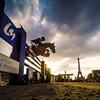 during the Paris Eiffel Jumping