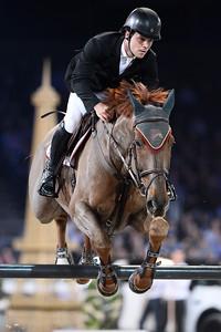 Sergio Alvarez Moya sur G And C Quitador Rochelais lors de la Gucci Gold Cup du Longines Paris Masters,