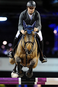 OLIVIER GUILLON SUR LORD DE THEIZE  GUCCI MASTERS 2009 Salon du Cheval 2009 Paris-Nord Villepinte © Christophe Bricot