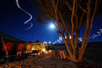 Sultanat d'Oman : Ambiance des tentes, dans lesquelles les cavaliers dineront chaque soir - Gallops of Oman (Galops d'Oman) - Course d'endurance, Raid dans le désert, race in the desert - Photo Christophe Bricot