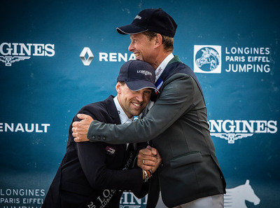 France, Paris : Simon Delestre, Rolf Goran Bengtsson , Pénélope Leprevost  during the Longines Paris Eiffel Jumping, Global Champions Tour in July 2th , 2016, in Paris, France - Photo Christophe Bricot