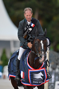 France, Paris : Rolf-Göran Bengtsson riding Casall ASK during the Longines Paris Eiffel Jumping, Global Champions Tour in July 2th , 2016, in Paris, France - Photo Christophe Bricot