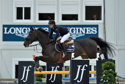 France, Paris : Jane Richard Philips riding Calinesse de Guldenboom during the Longines Paris Eiffel Jumping, Global Champions Tour in July 2th , 2016, in Paris, France - Photo Christophe Bricot
