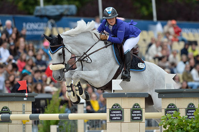 France, Paris : Danielle Goldstein riding Czerny N during the Longines Paris Eiffel Jumping, Global Champions Tour in July 2th , 2016, in Paris, France - Photo Christophe Bricot