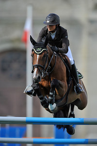 """LEPREVOST Penelope (FRA) sur BELLE CONCOURS INTERNATIONAL CSI***** CHANTILLY 2010 - EPREUVE DU GLOBAL CHAMPIONS TOUR (GCT) - 2010 © CHRISTOPHE BRICOT _________________________________________ CSI***** CHANTILLY 2010 - GLOBAL CHAMPIONS TOUR - The second Global Champions Tour stage on French ground is situated in Chantilly, a real """"horse town"""".  © CHRISTOPHE BRICOT"""