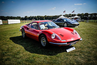 POLO : OPEN DE FRANCE 2012 _ CHOPARD ET KAMELIS MARRAKECH POLO RESORT - CHANTILLY - ILLUSTRATION VOITURE FERRARI DINO - OISE - © CHRISTOPHE BRICOT