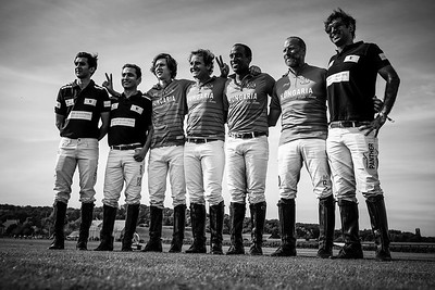 "Chantilly, France :  Nobility for Ability Charity Cup finals with Las Hermanitas / Los Nocheros ; Sawai Padmanabh Singh Fashion show ""Khadi Silk""  by Charu Parashar and polo match with Royal Jaipur Polo Team (with the maharadja of Jaipur) / Chantilly Polo Club,  on June 24, 2018, in Chantilly, France - Photo Christophe Bricot"