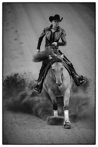 France, Chassieu :  Ann Fonck-Poels riding Made In Walla during the reining International Competition of Equita Lyon, on October 29th , 2016, in Chassieu, France - Photo Christophe Bricot
