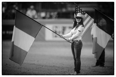 France, Chassieu :  USA National song, opening ceremony during the reining International Competition of Equita Lyon, on October 29th , 2016, in Chassieu, France - Photo Christophe Bricot