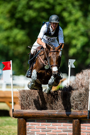 France, Marnes-la-Coquette : CARLILE Thomas riding BIRMANE<br /> during the CCI4*-S-FFE competition of the Jardy Eventing Show 2020, July 11th, at Haras de Jardy,  Photo Christophe Bricot.