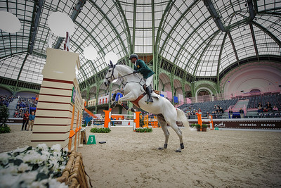 France, Paris : Abdelkebir OUADDAR riding Cordano Sitte Z during the Saut-Hermès Jumping competition in the Grand-Palais, on March 19th , 2017, in Paris, France - Photo Christophe Bricot