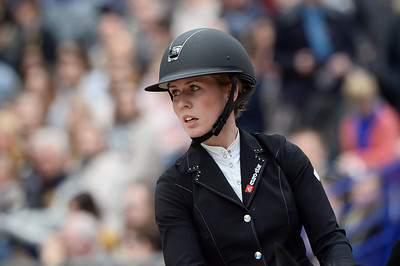 France, Paris : Alexandra ERIKSSON riding Liss Royal during the Saut-Hermès Jumping competition in the Grand-Palais, on March 19th , 2017, in Paris, France - Photo Christophe Bricot