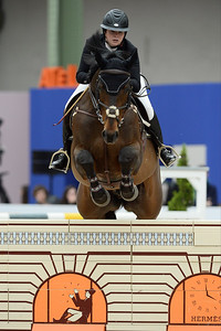 France, Paris : Jessie DREA riding Mullaghdrin Touch The Stars during the Saut-Hermès Jumping competition in the Grand-Palais, on March 19th , 2017, in Paris, France - Photo Christophe Bricot