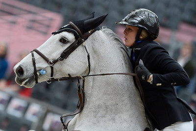France, Paris : Gudrun PATTEET riding Sea Coast Ferly during the Saut-Hermès Jumping competition in the Grand-Palais, on March 19th , 2017, in Paris, France - Photo Christophe Bricot