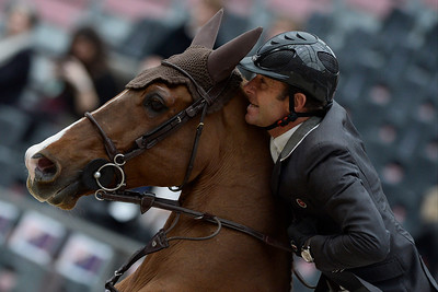 France, Paris : Philippe ROZIER riding Reveur de Kergane during the Saut-Hermès Jumping competition in the Grand-Palais, on March 19th , 2017, in Paris, France - Photo Christophe Bricot