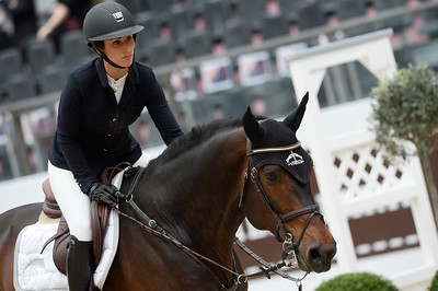 France, Paris : Sjanika PRUNGER riding Ninyon during the Saut-Hermès Jumping competition in the Grand-Palais, on March 19th , 2017, in Paris, France - Photo Christophe Bricot