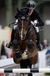 France, Paris : Marcus EHNING riding Cordynox during the Saut-Hermès Jumping competition in the Grand-Palais, on March 19th , 2017, in Paris, France - Photo Christophe Bricot
