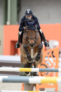 France, Paris : Maikel VAN DER VLEUTEN riding Salomon during the Saut-Hermès Jumping competition in the Grand-Palais, on March 19th , 2017, in Paris, France - Photo Christophe Bricot