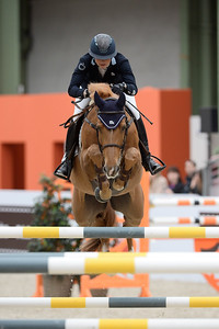France, Paris : Jonna EKBERG riding Salto des Nauves HDC during the Saut-Hermès Jumping competition in the Grand-Palais, on March 19th , 2017, in Paris, France - Photo Christophe Bricot