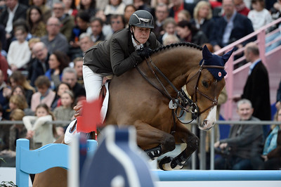 France, Paris : Ben ASSELIN riding Cool Feeling during the Saut-Hermès Jumping competition in the Grand-Palais, on March 18th , 2017, in Paris, France - Photo Christophe Bricot