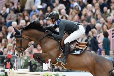 France, Paris : Penelope LEPREVOST riding Ratina d'la Rousserie during the Saut-Hermès Jumping competition in the Grand-Palais, on March 18th , 2017, in Paris, France - Photo Christophe Bricot
