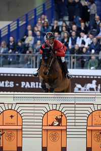 France, Paris : Pius SCHWIZER riding Electric Z during the Saut-Hermès Jumping competition in the Grand-Palais, on March 18th , 2017, in Paris, France - Photo Christophe Bricot