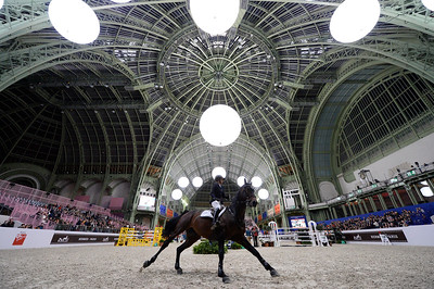 France, Paris : Sjanika PRUNGER riding Ninyon during the Saut-Hermès Jumping competition in the Grand-Palais, on March 18th , 2017, in Paris, France - Photo Christophe Bricot