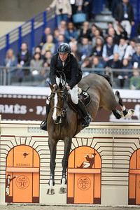 France, Paris : John WHITAKER riding Ornellaia during the Saut-Hermès Jumping competition in the Grand-Palais, on March 18th , 2017, in Paris, France - Photo Christophe Bricot